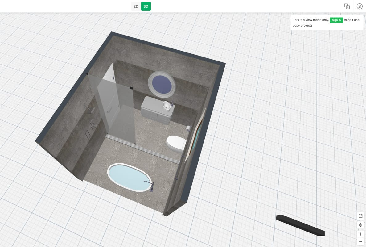 Passion Built 3D view of a proposed bathroom renovation design for a new building project in Merrylands