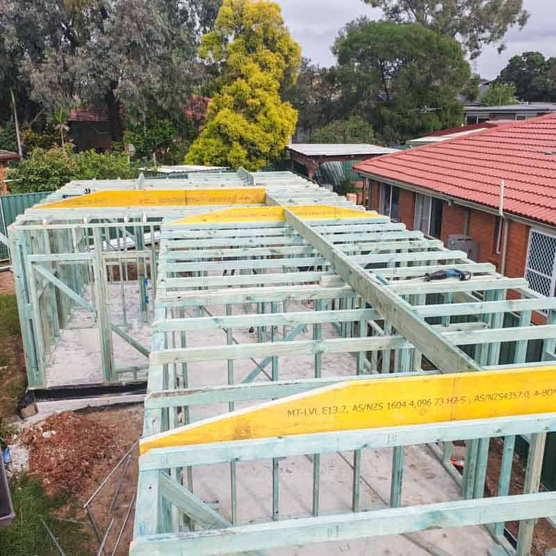 Small building renovation projects in Merrylands by a home renovation specialist using a licensed builder Dylan Doncevski from Passion Built doing framing for home extensions
