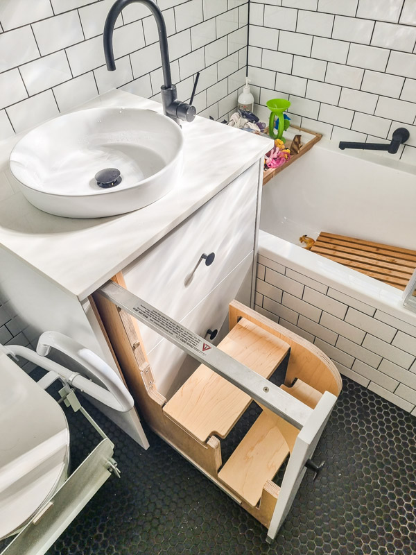 Passion-Built-Bathroom-Renovation-with-disability-access-in-Croydon-new-vanity-with-step
